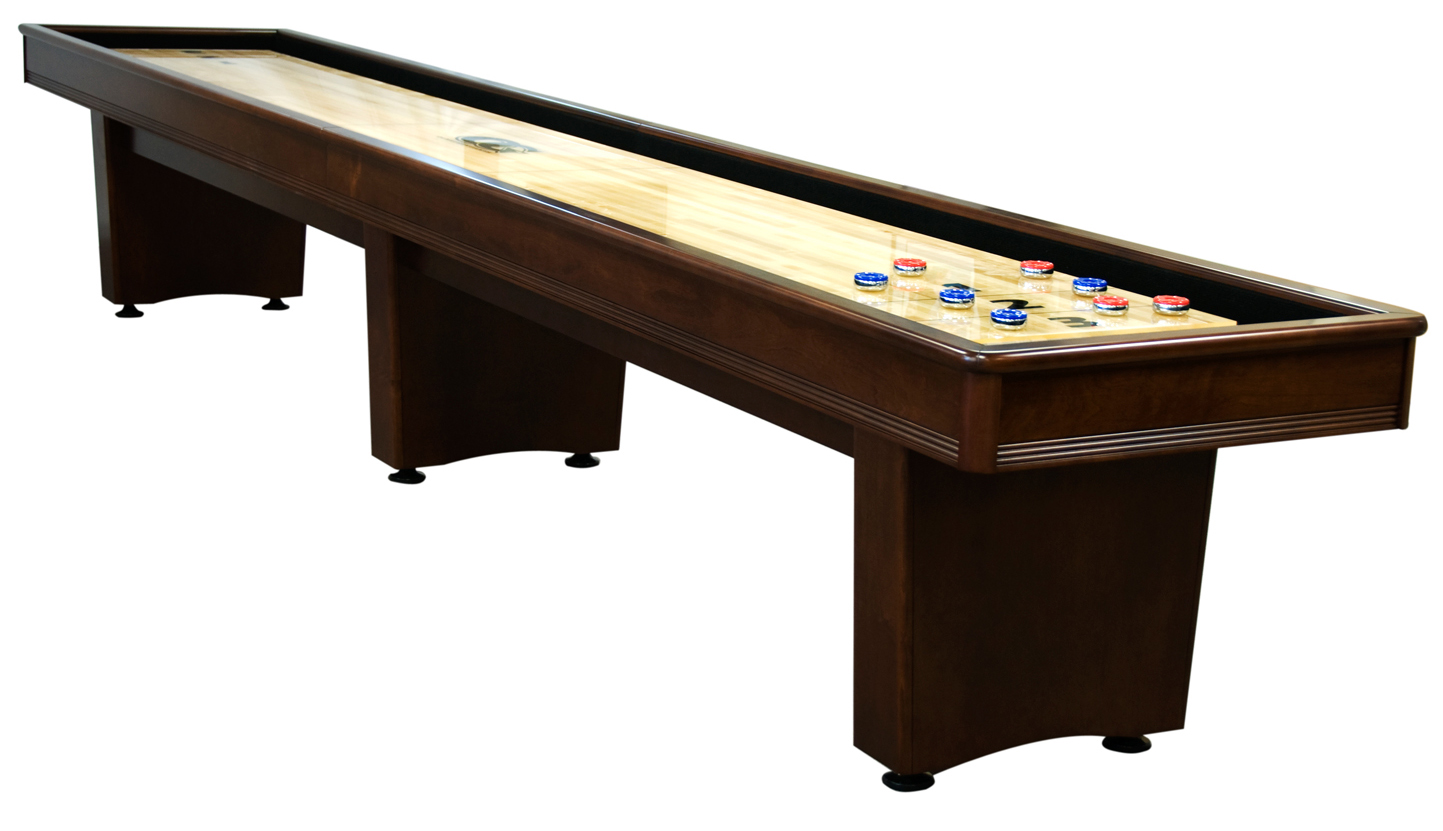 Olhausen Shuffle Board Tables From Foot To Foot - Standard shuffleboard table